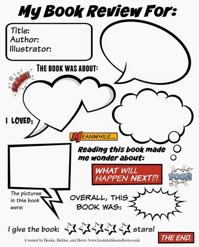 Books, Babies, And Bows: Free Book Review Template For Kids regarding Book Review Template